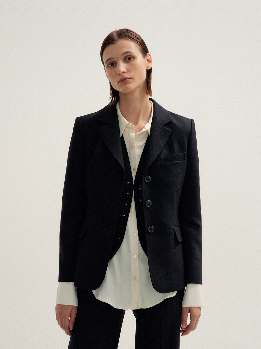 BLACK NOVA BUTTON JACKET