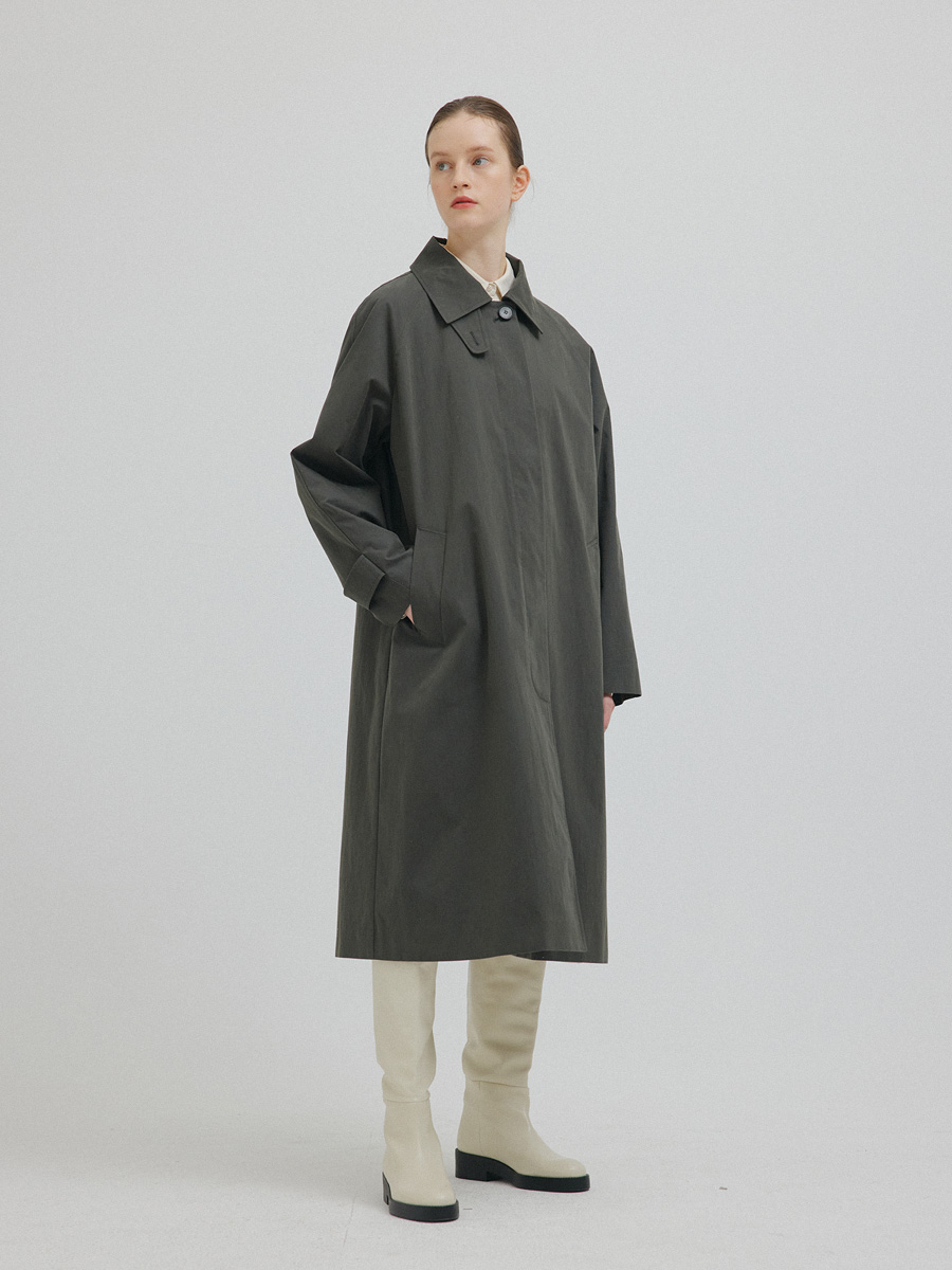 CHARCOAL LES TRENCH COAT