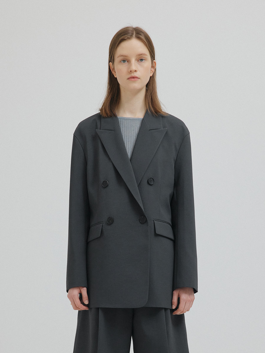 CHARCOAL SOLBI DOUBLE JACKET