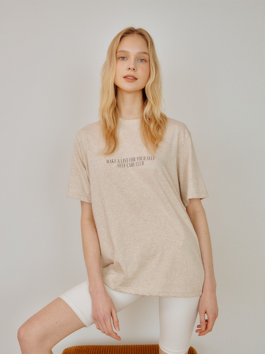MELANGE BEIGE MAKE A LIST TSHIRT