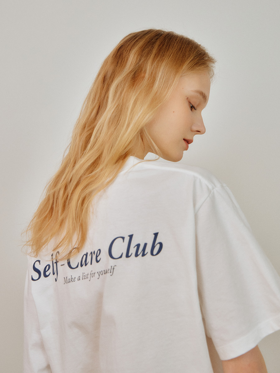 WHITE SELFCARE CLUB TSHIRT